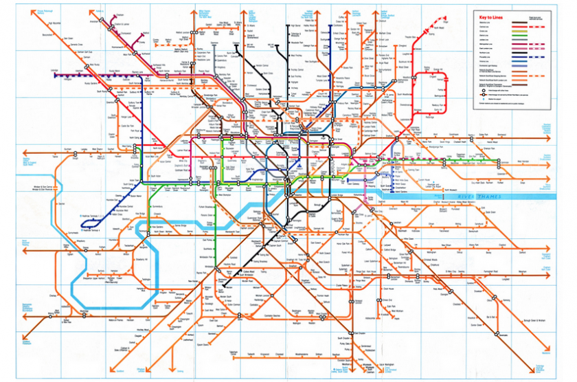 This old map of Londons rail network shows how much has changed in
