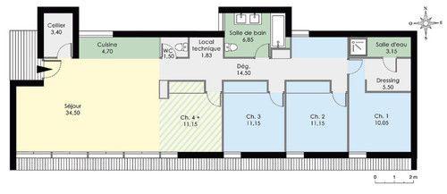 Découvrez Les Plans De Cette Maison De Plain Pied Contemporaine Sur  Www.construiresamaison. Conception Etonnante