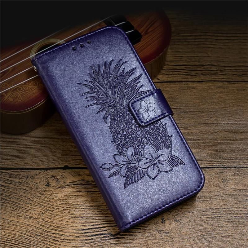 Embossing Flower Pineapple Leather Wallet Case for iPhone 8 / 7 (4.7 inch) - Purple - Leather Case - Guuds #leatherwallets