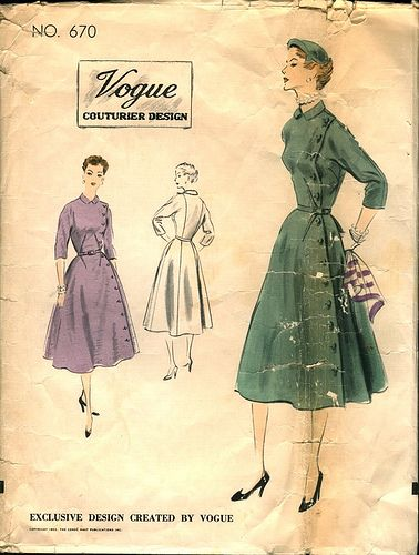 vogue couturier dress 670, 1952