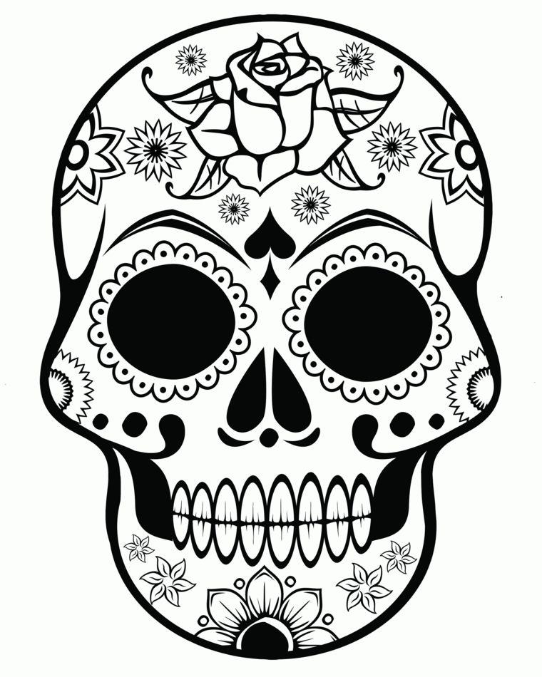Disegni teschi messicani un 39 idea tutta da copiare e da for Disegni portico messicano