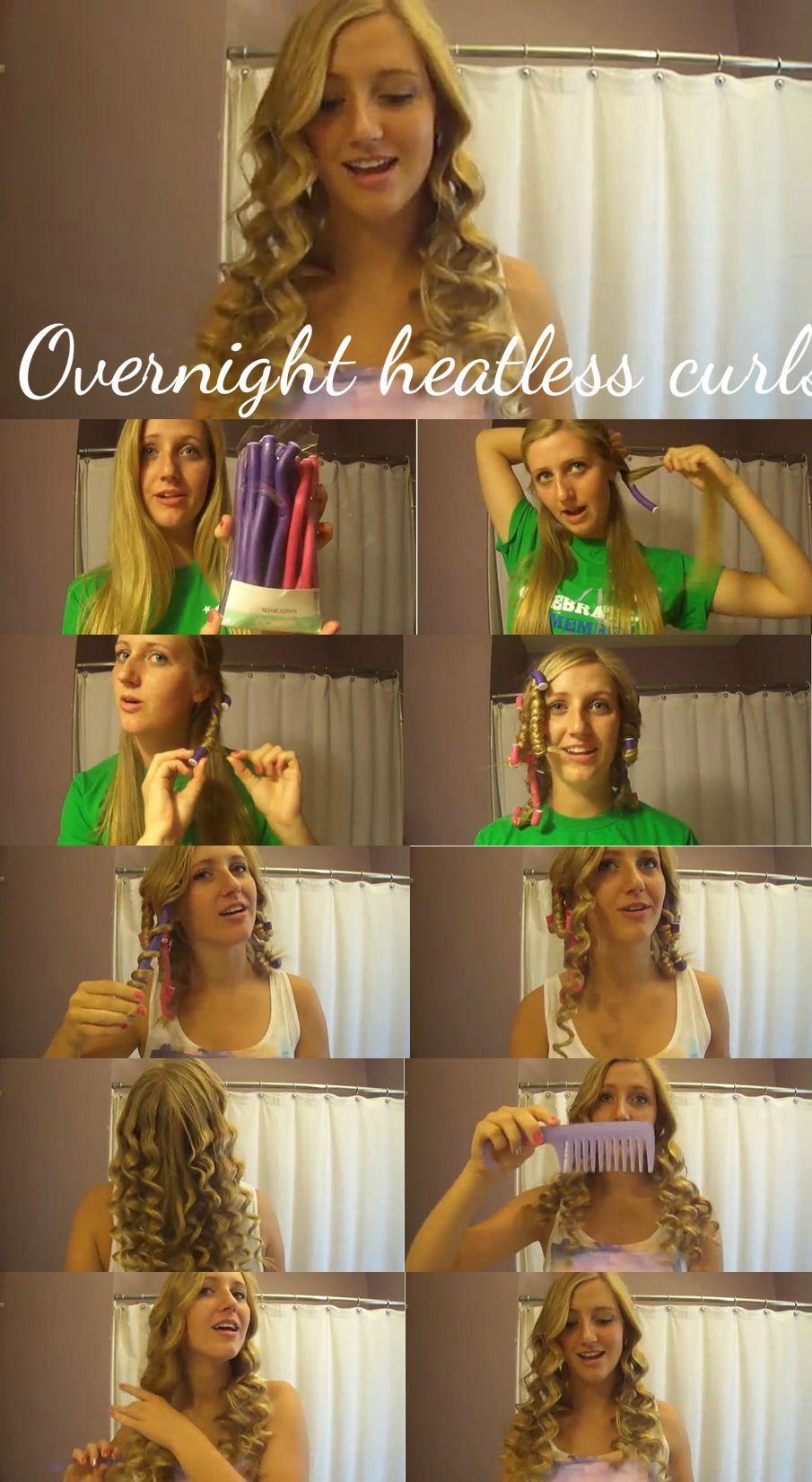 Overnight heatless curls(taylor swift curls)