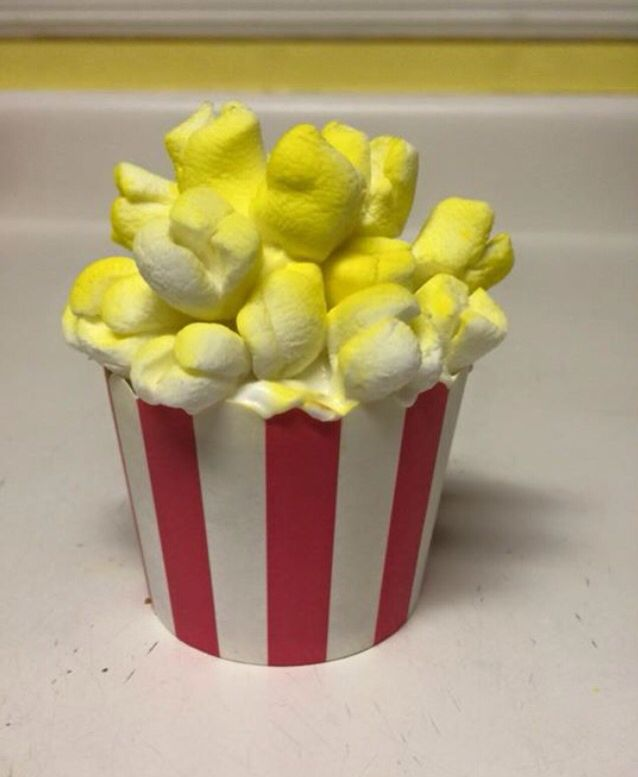 Cupcake. Cut marshmallows!