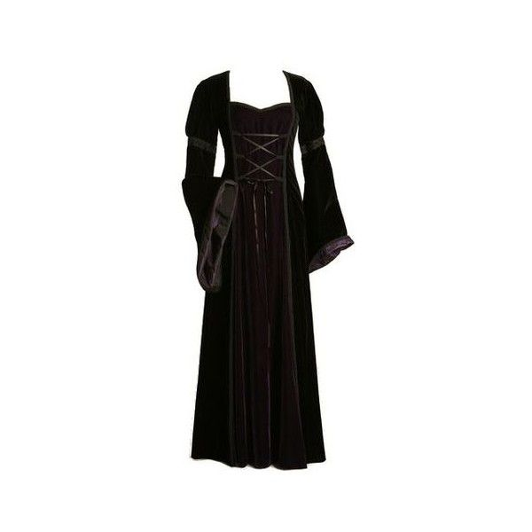 Medieval Dress found on Polyvore featuring women's fashion, dresses,... ❤ liked on Polyvore featuring costumes, lady halloween costumes, ladies halloween costumes, ladies costumes, lady costumes and womens costumes