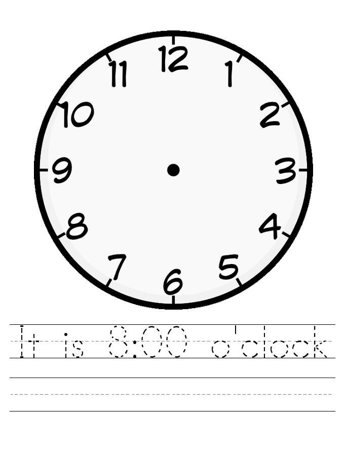 Blank Clock Face Worksheet Tracing Clock Face Printable Clock