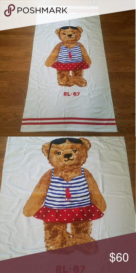 Polo Bear Beach Towel Brand New With Tag Polo Ralph Lauren Polo