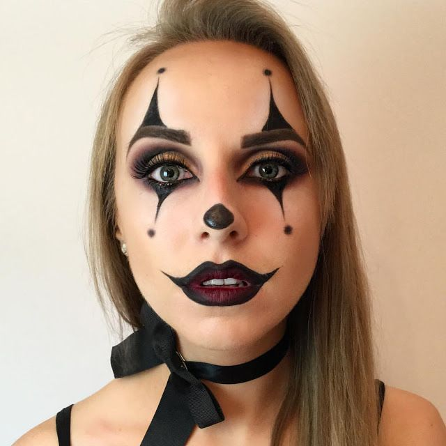 Scary Clown Makeup Easy To Do Dia De Muertos All Hallows Eve Un Dia