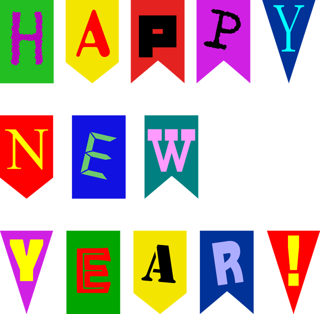make quick new year cards with this printable banner printable happy new year banner for cards