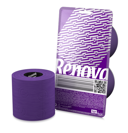 Purple Toilet Paper - Crystal clear exclusive packaging for the sexiest paper on Earth.