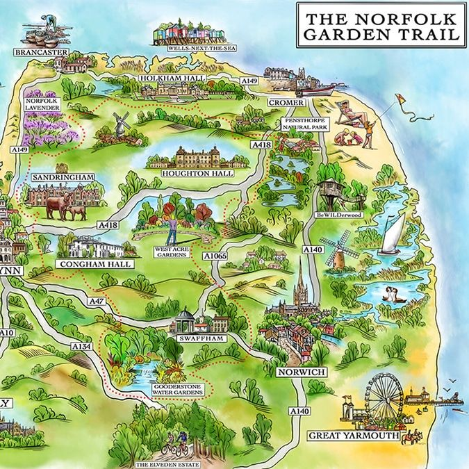 Pin by Beth Hayes on maps in 2019 | Norfolk beach, Norfolk cottages ...