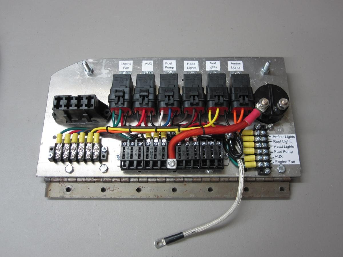 custom relay panels ce auto electric supply fuse panel custom trucks custom cars [ 1200 x 900 Pixel ]