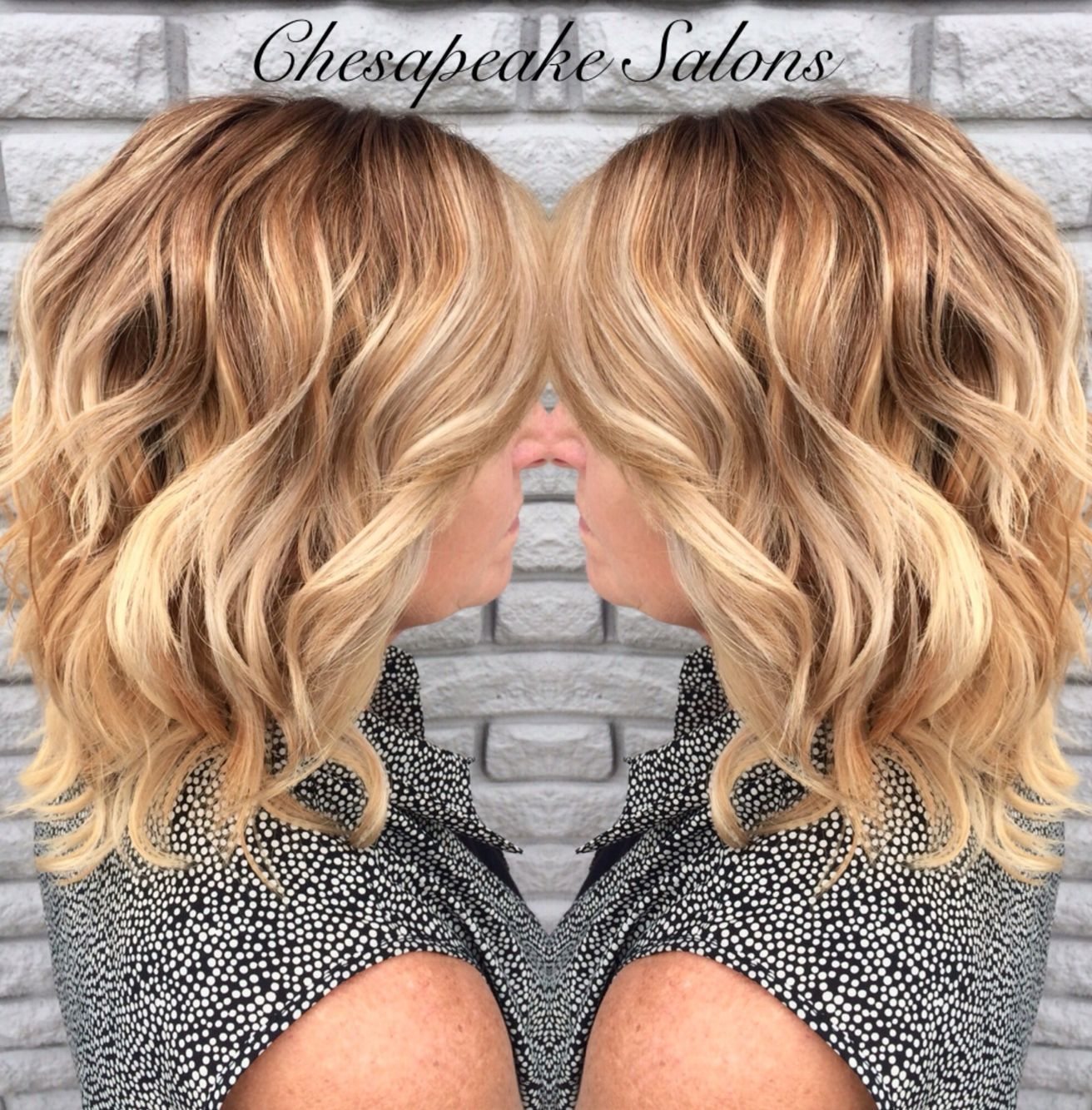 Brown To Blonde Ombr By Tiffany Hair Color Pinterest Hair