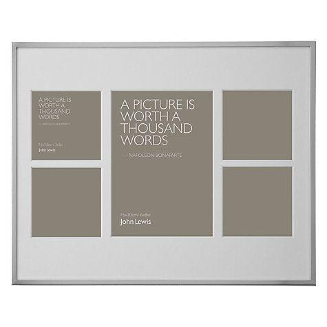 Buy John Lewis Daya Multi Aperture Frame 5 Photo 6 X 8 15 X 20cm