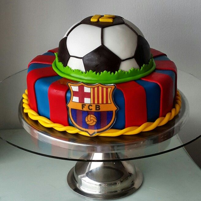 Barcelona Soccer Cake By Eva Ks Soccer Birthday Cakes