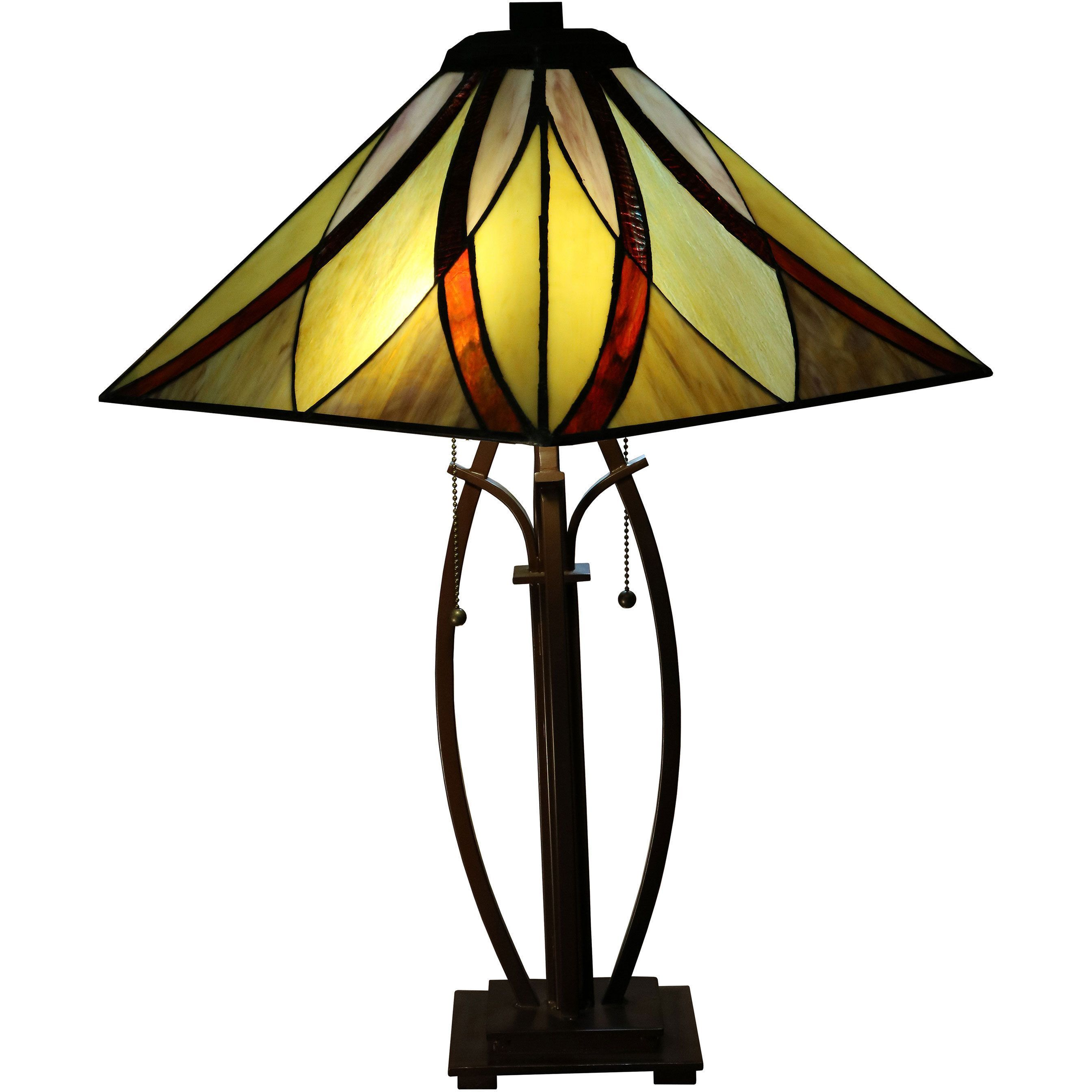 Sheen 2 Light Multi Color 26 Inch Tiffany Style Table Lamp Multi