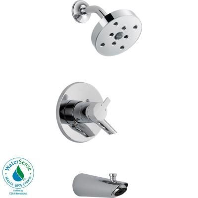 Delta Compel 1 Handle H2okinetic Tub And Shower Faucet Trim Kit In