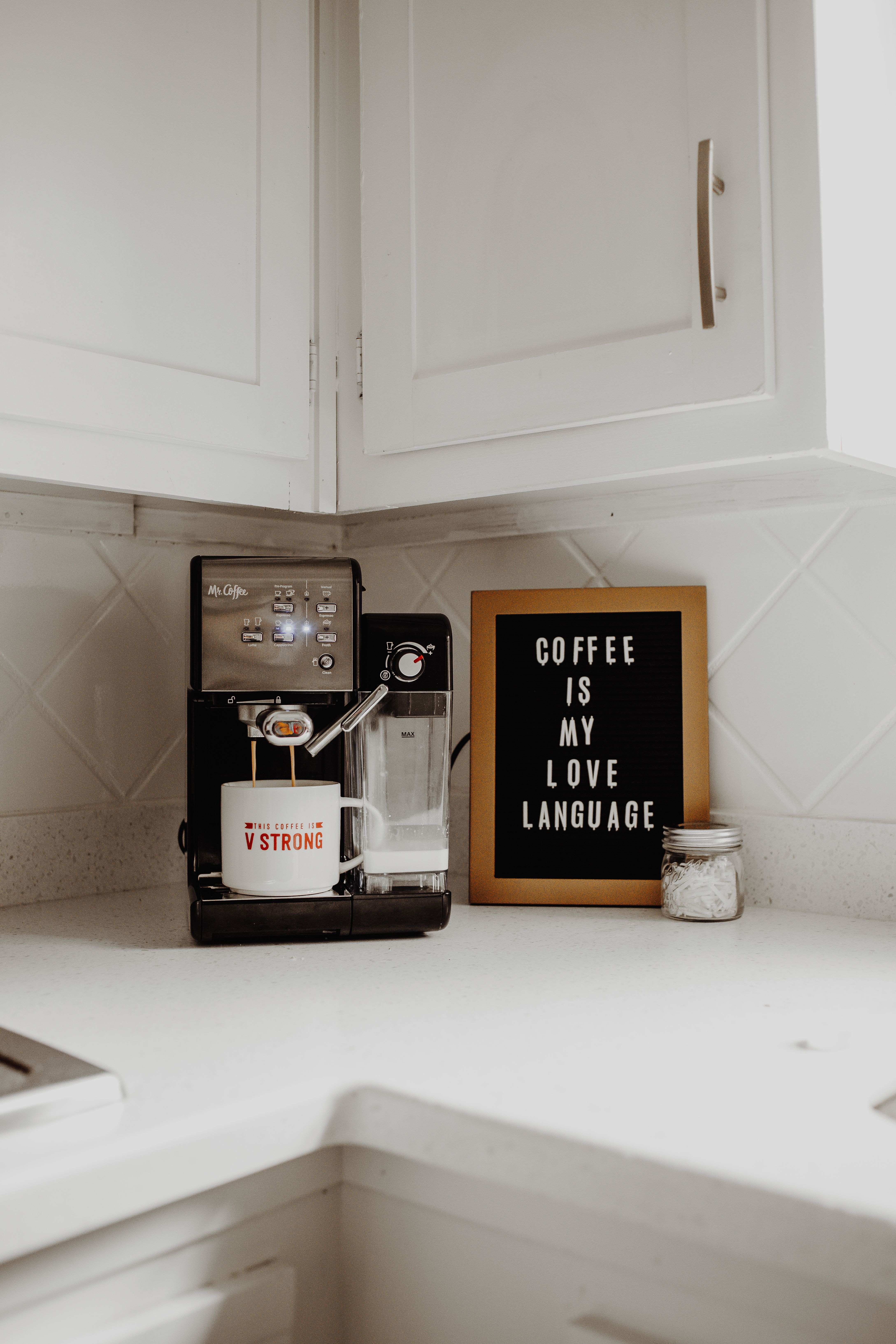 DIY Lattes and Cappuccinos #cappuccinomachine Create delectable coffee shop drinks at home with the Mr. Coffee One-Touch Coffeehouse Espresso and Cappuccino Machine. #espressoathome