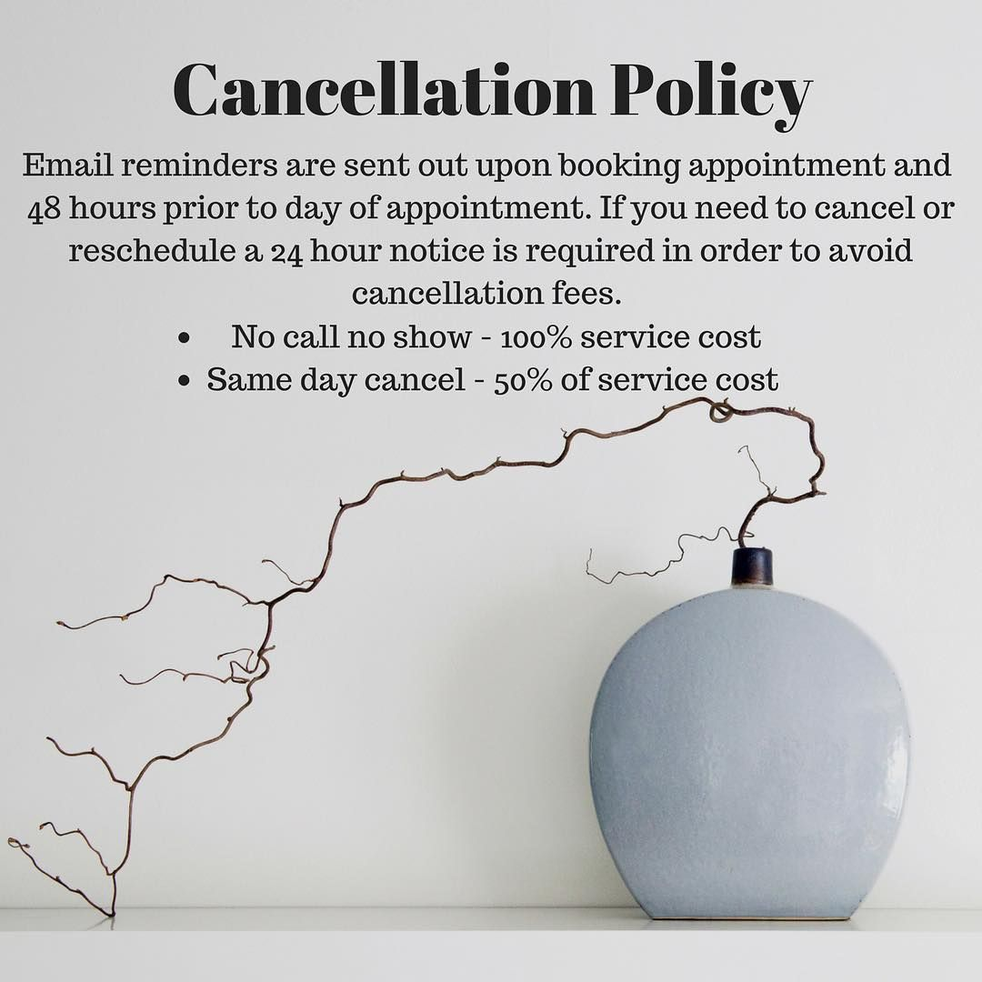 This Is Just A Friendly Reminder Of The Cancellation Policy At