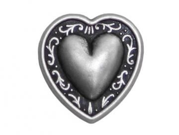 2 Heart Metal Shank Buttons 3/4 inch ( 19 mm ) Color: Antique Silver by ButtonJones for $2.80