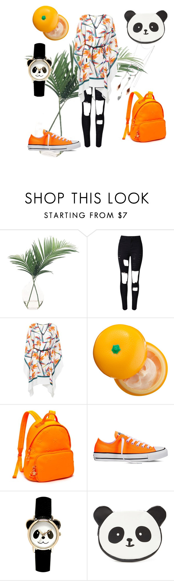 """""""Без названия #46"""" by sup-ergirl ❤ liked on Polyvore featuring NDI, Fendi, Tony Moly, Tommy Hilfiger, Converse, Forever 21 and Hipanema"""
