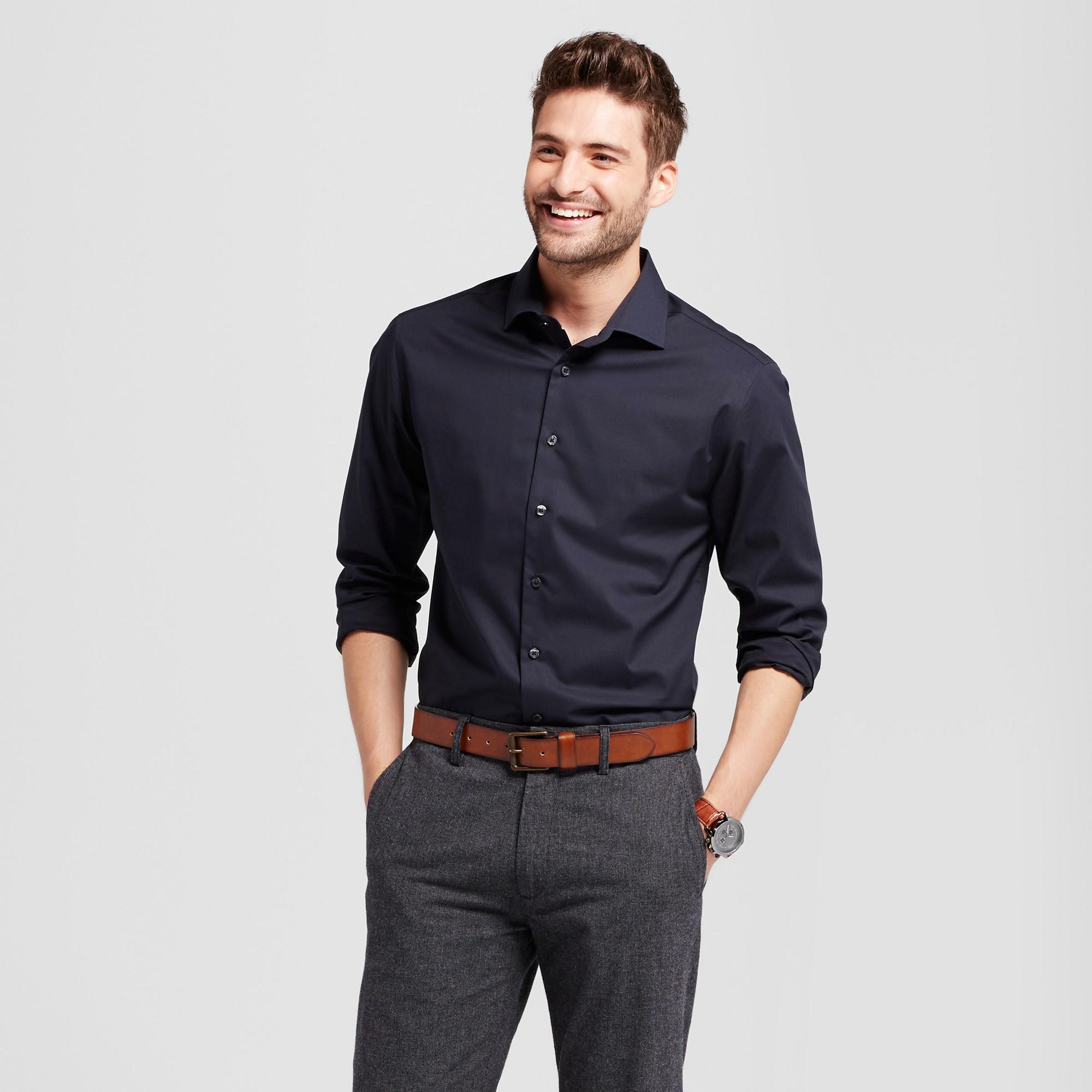 Men S Standard Fit Ultimate Button Down Dress Shirt Goodfellow Co Black Xxl Black Shirt Outfit Men Shirt Outfit Men Mens Shirt Dress [ 2000 x 2000 Pixel ]