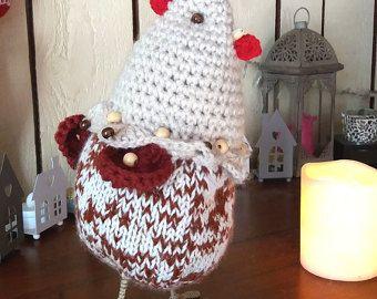 tricoter poule de paques
