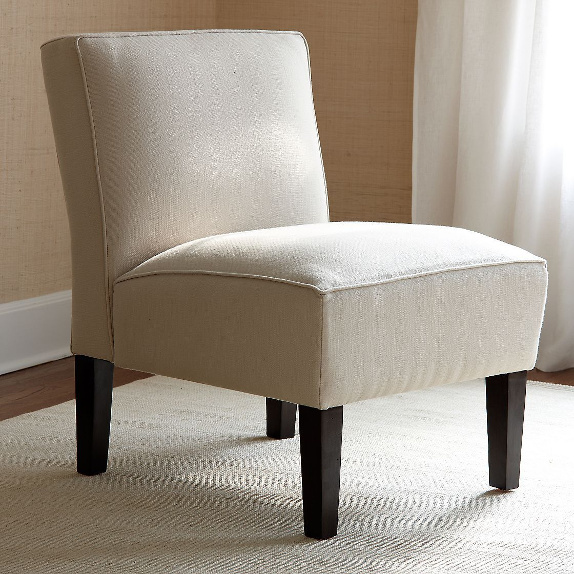 Company Store Mercer Armless Chair Like the clean lines