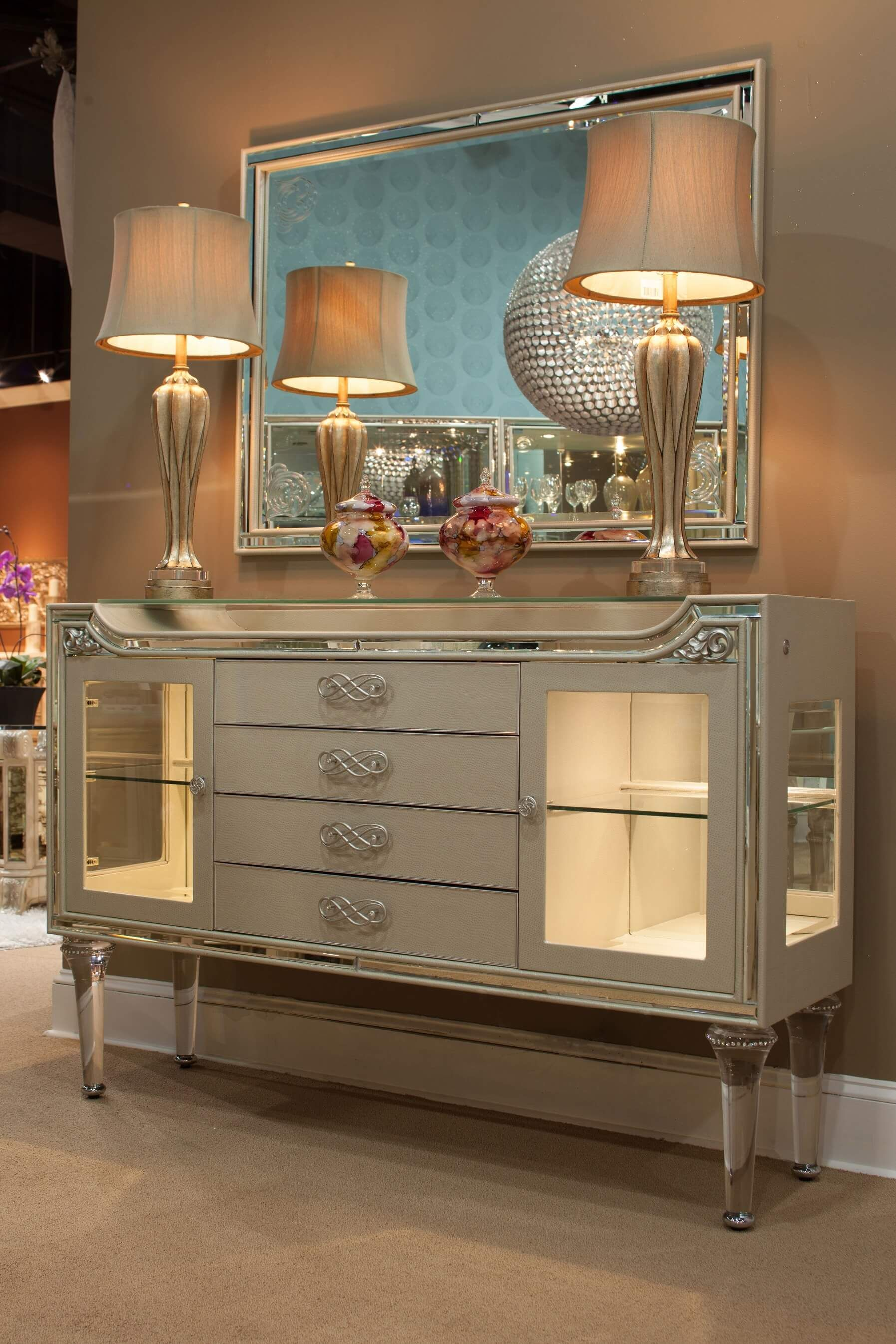 Etonnant Michael Amini Bel Air Park Champagne Sideboard   USA Warehouse Furniture