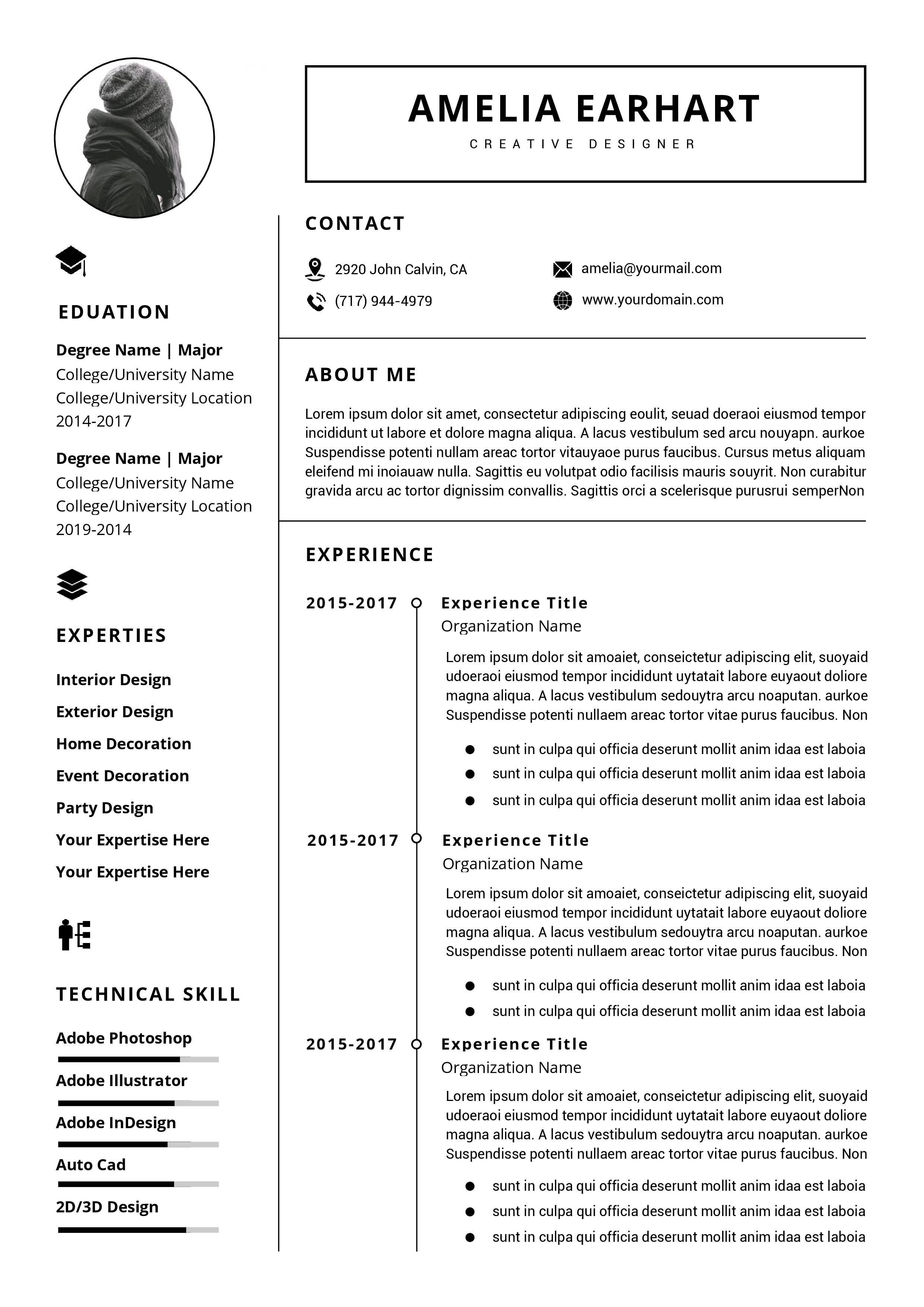 Resume Templates Word Free Download Australia