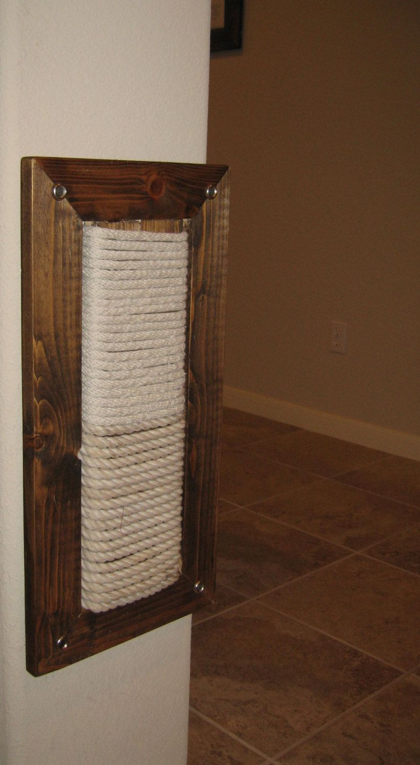 Wall Mount Scratching Post for Cats. 119.00, via Etsy