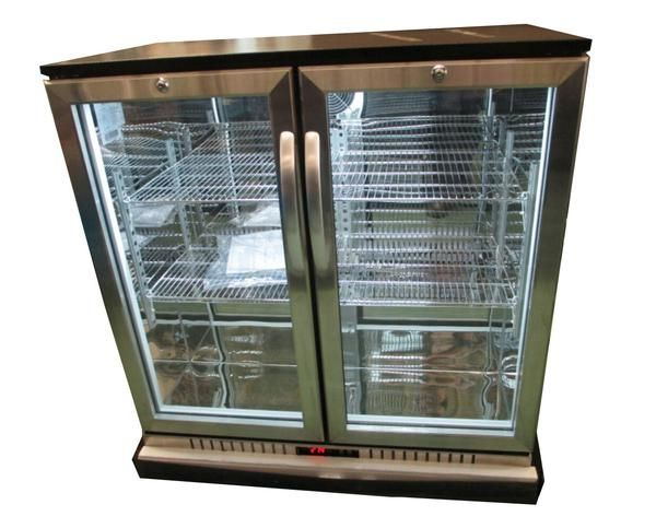 Procool 2 Door Bar Cooler Stainless Steel Back Bar Beverage Cooler Stainless Steel Bar