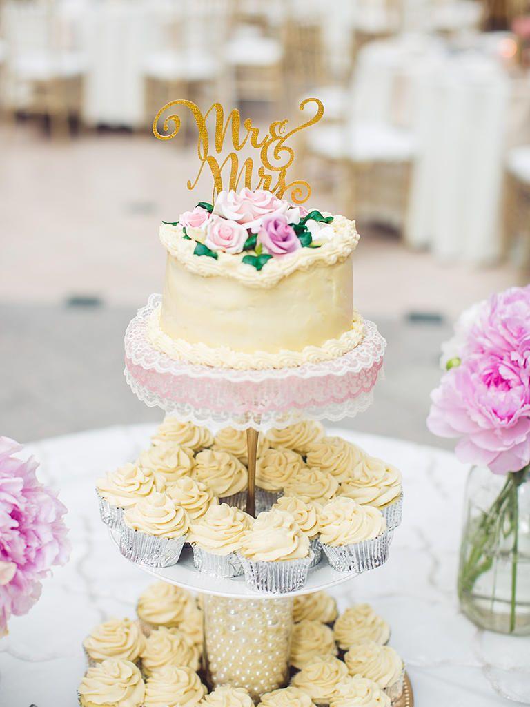 16 Wedding Cake Ideas With Cupcakes | White wedding cakes, Wedding ...