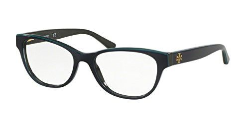 52d92e37b64 Tory Burch TY2065 Eyeglass Frames 1598-53 - Navy Turquoise Hunter ...
