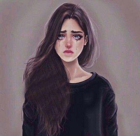 Crying Gambar Teman Gadis Animasi Gambar