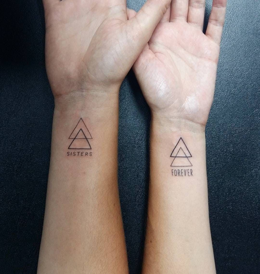 25 Sister Tattoo Ideas To Get With Your Other Half Matching Sister Tattoos Small Sister Tattoos Friendship Tattoos