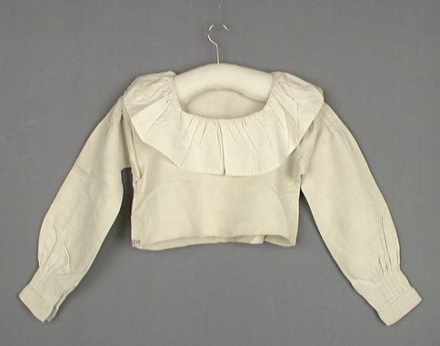 Opplöt i linne och bomull, 1800-talets mitt. Trelleborgs Museum, nr. TM.1250