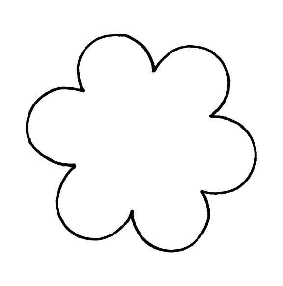 Outline Of Flower Clip Art Library Flower Outline Flower Printable Cartoon Flowers