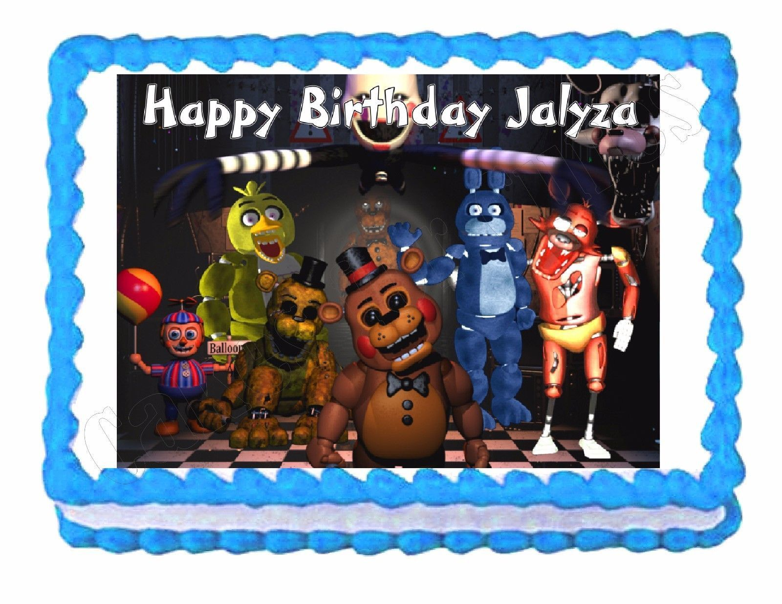 Ideas five nights at freddy party - Five Nights At Freddy S Fnaf Party Edible Cake Image Cake Topper Frosting Sheet