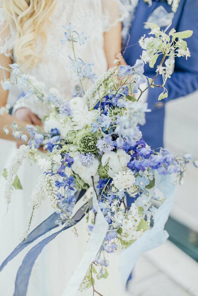 Cufflinks blue Flower Glass Wedding