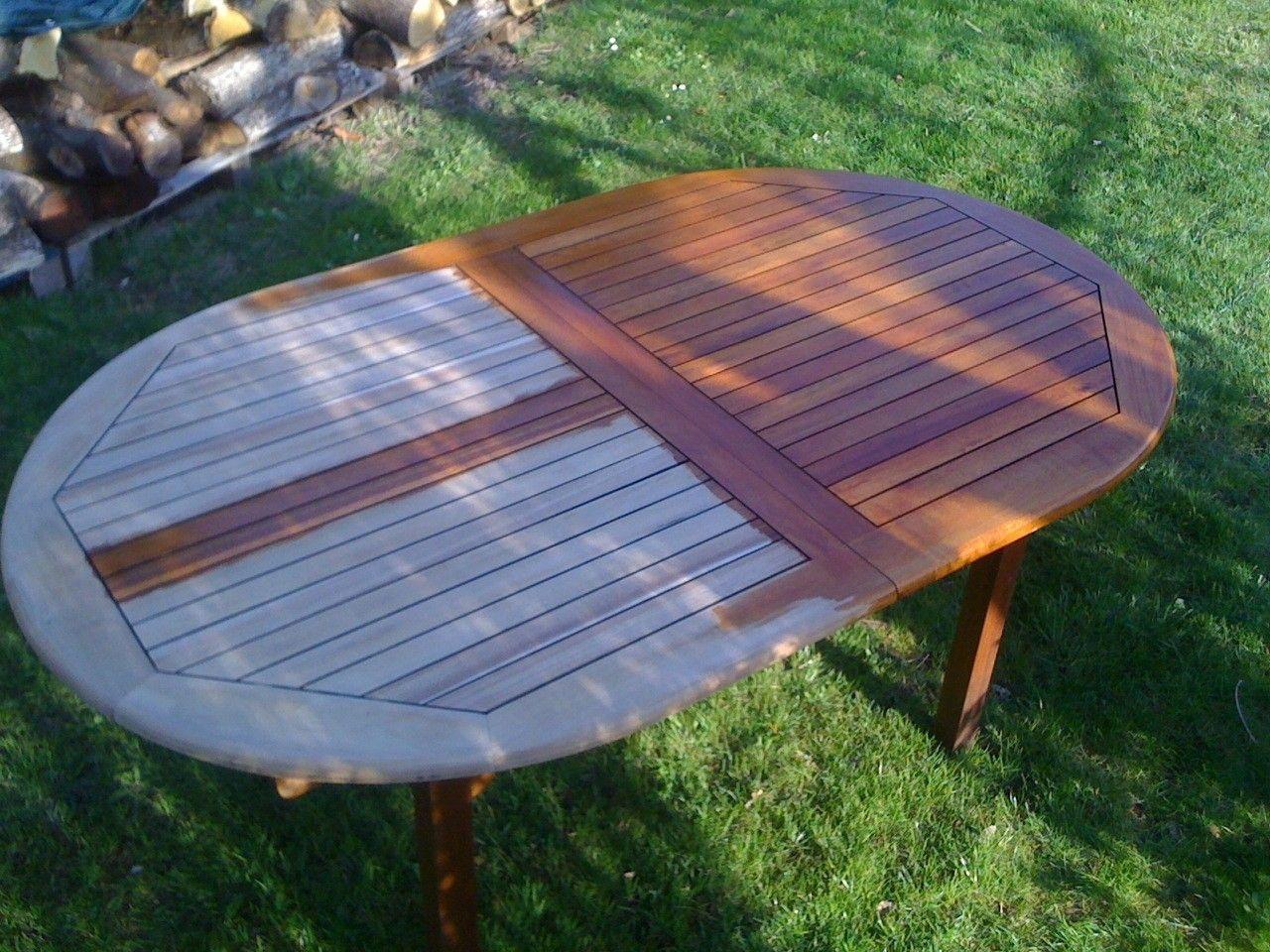 Incredible Rnovation D39une Table De Jardin En Bois Mr ...