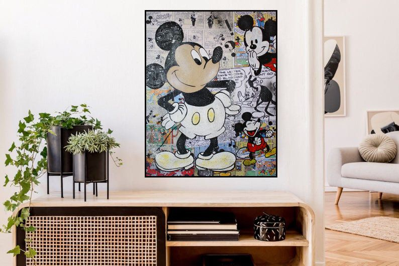 Mickey Mouse Art Print Mickey Mouse Print Wall Decor Wall Etsy Mickey Mouse Art Modern Art Prints Art Prints