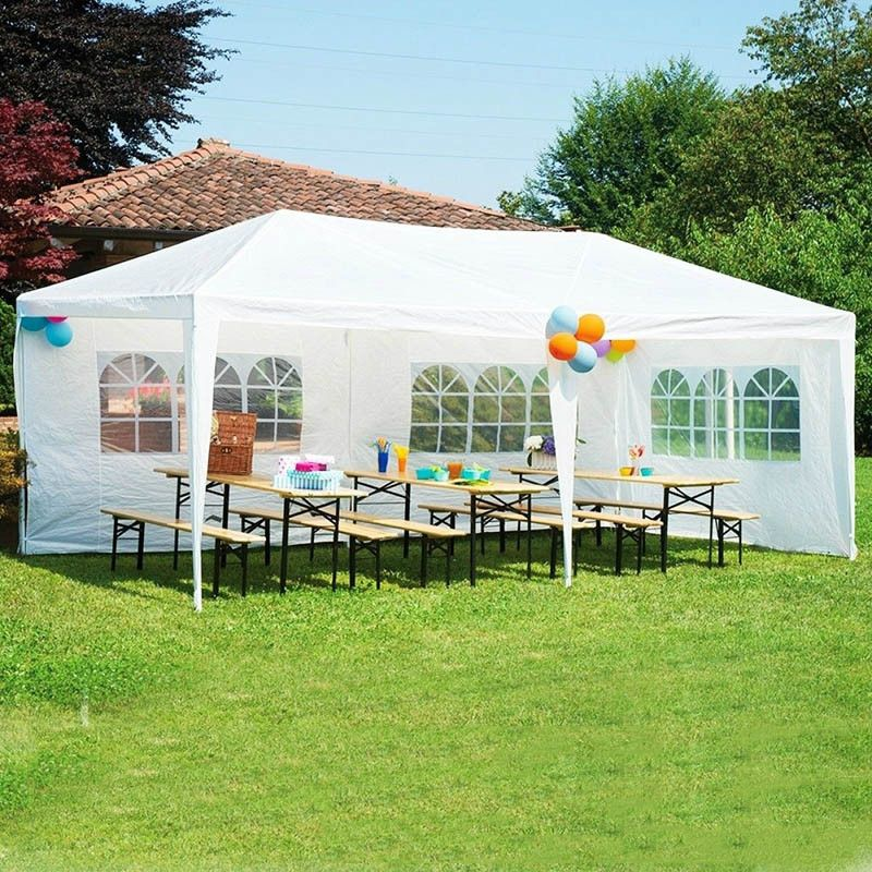 10 X 20 White Party Tent Outdoor Gazebos Patio Tents Canopy Outdoor
