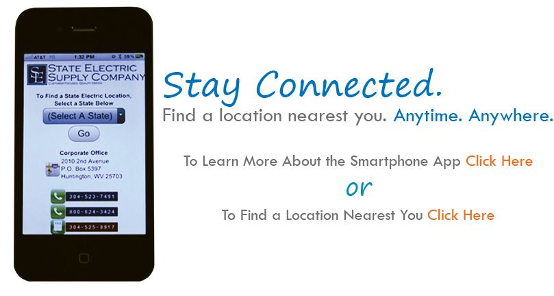 Stay Connected to State Electric by downloading our #FREE App! www.stateelectric.com
