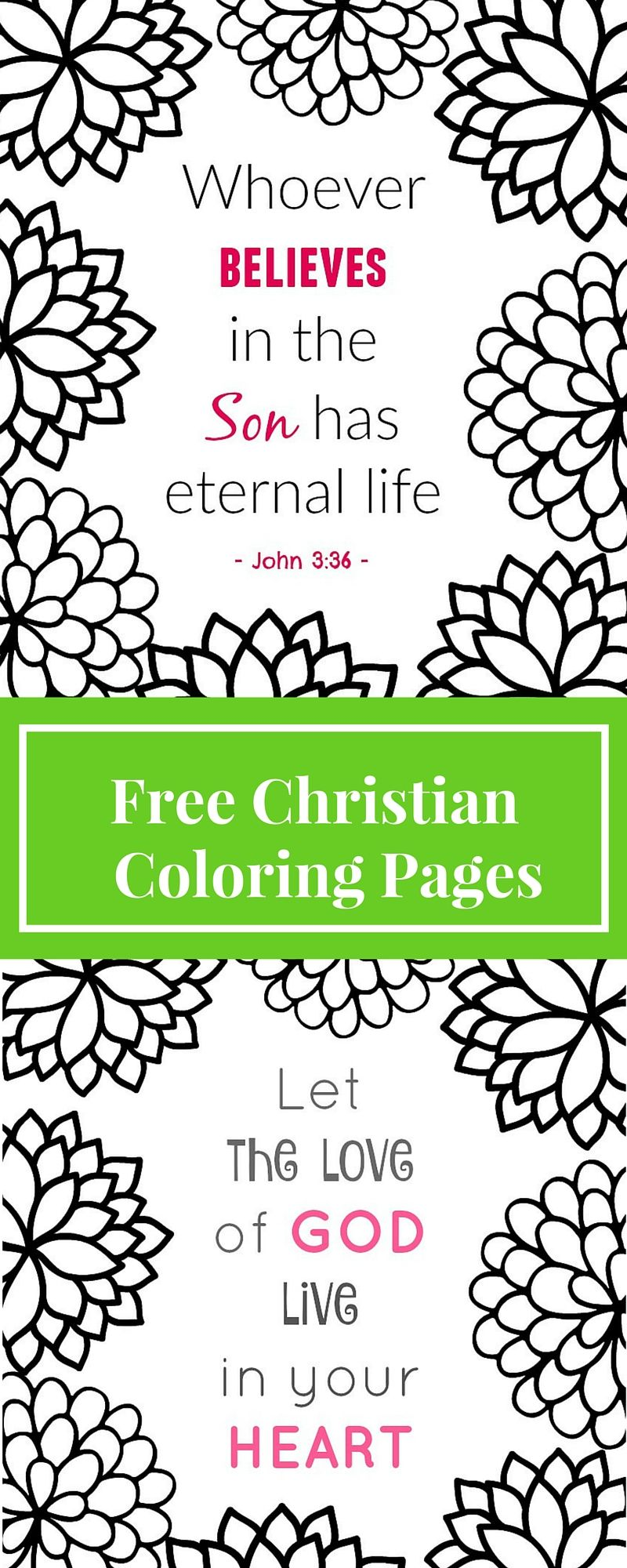 Free Printable Christian Coloring Pages | Free printable, Adult ...