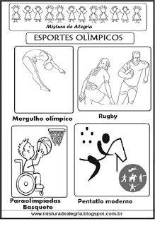 Esportes Olimpicos Para Colorir Olimpiada 2016 Esportes