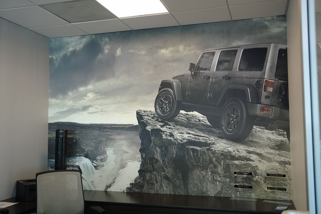 Sales Office Interior Branding Installed At Jeep Chrysler Dodge Ontario In  Ontario, CA. Contact