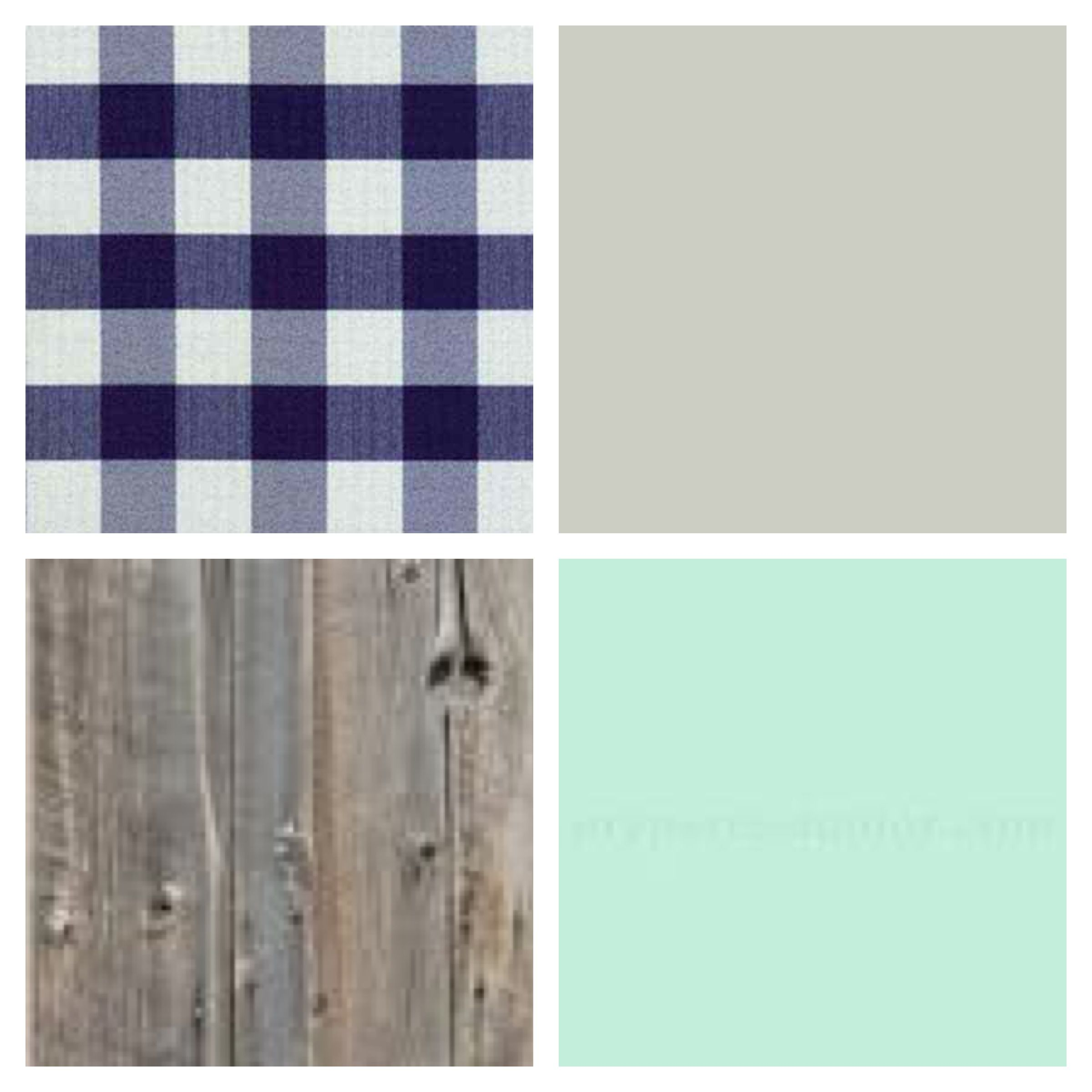 Country Rustic Baby Boys Nursery Color Palette Blue