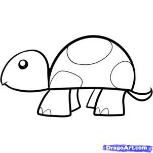 How To Draw A Turtle For Kids By Dawn With Images Turtle