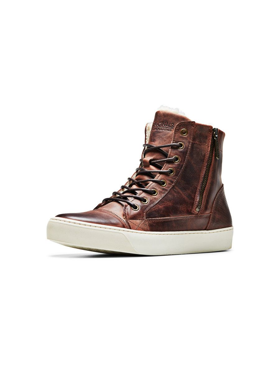Jack   Jones - LEATHER HIGH TOP BOOTS   Happy Feet   Pinterest ... db4a98950e