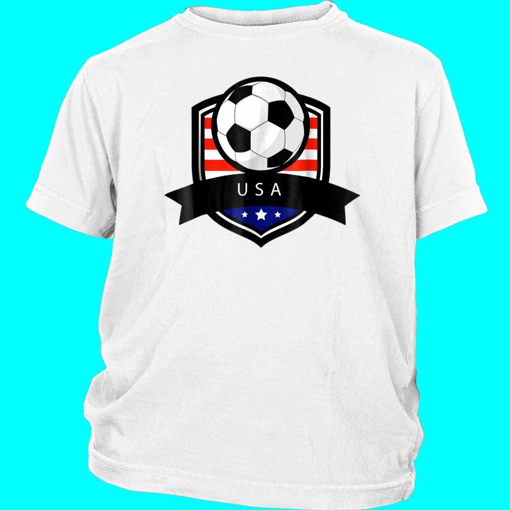 USA Soccer Ball TShirt American Flag Football Tee